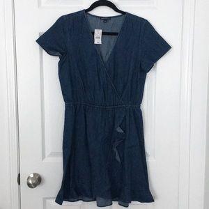 NWT J.Crew Denim Wrap Dress